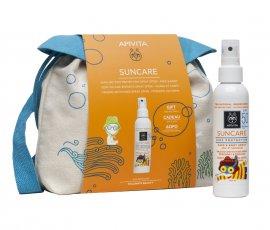 Apivita Set Suncare Kids Protection Face & Body Spray SPF50 με Αλόη & Καλέντουλα 150ml + Δώρο Παιδικό Backpack