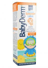 INTERMED BABYDERM SUNSCREEN LOTION FACE & BODY 50SPF 200ML