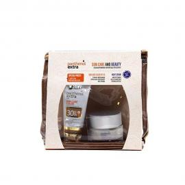 Panthenol Extra set Sun Care Color SPF30 Αντιηλιακό Προσώπου με Χρώμα 50ml & Face & Eye Anti-Wrinkle Cream 50ml & ΔΩΡΟ Νεσεσέρ