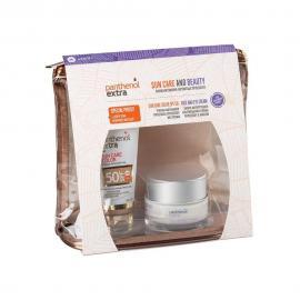 Panthenol Extra set Sun Care Color SPF50 Αντιηλιακό Προσώπου με Χρώμα 50ml & Face & Eye Anti-Wrinkle Cream 50ml & ΔΩΡΟ Νεσεσέρ