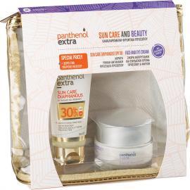 Panthenol Extra Set Sun Care Diaphanous Face Gel SPF30 50ml & Face & Eye Anti-Wrinkle Cream 50ml & ΔΩΡΟ Νεσεσέρ