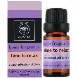 APIVITA Home Fragrance Time To Relax - Μίγμα Αιθερίων Ελαιών 10ml