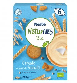 Nestle NaturNes Bio με Σιτάρι & Βρώμη και Γεύση Μπισκότο απο τον 6ο Μήνα 200g