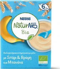 Nestle NaturNes BIO Βρεφική Κρέμα Δημητριακών Από 6+m με Γάλα - Σιτάρι - Βρώμη και Μπανάνα 200gr