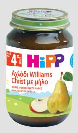 Hipp Φρουτόκρεμα Μήλο με Αχλάδι Βιολογικής Καλλιέργειας 4m+ 190gr