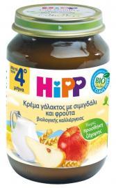 HIPP Βρεφική Κρέμα Γάλακτος Σιμιγδάλι - Φρούτα Από τον 4ο Μήνα- Έτοιμη Βρεφική Τροφή σε Βαζάκι 190 gr code 432641