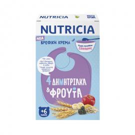 Nutricia Βρεφική Κρέμα 4 Δημητριακά & Φρούτα 225gr