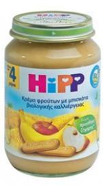 Hipp - Φρουτόκρεμα μήλο μπανάνα μπισκότο 190gr