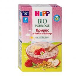 Hipp Bio Βρεφική Κρέμα Χωρίς Ζάχαρη Βρώμης με Φράουλα και Βατόμουρο από τον 8ο Μήνα 250gr