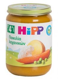 Hipp Βρεφικό Γεύμα Ποικιλία Λαχανικών Βιολογικής Καλλιέργειας 5m+ 190gr