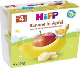 Hipp Φρουτόκρεμα με Μπανάνα & Μήλο (μετά τον 4ο μήνα) 4x100gr
