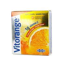 UNI-PHARMA Vitorange Vitamin C 1g Sugar Free 12 Αναβρ. Δισκία
