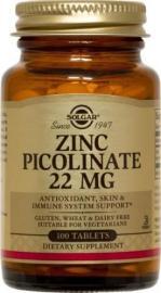 SOLGAR ZINC PICOLINATE 22MG 100TAB