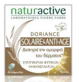 Naturactive - Doriance Solaire & Anti-Age Συμπλήρωμα Διατροφής για τη διατήρηση της Ομορφιάς του Δέρματος & για βαθύτερο Μαύρισμα, 60 caps