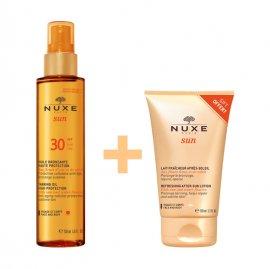 Nuxe Sun Tanning Oil High Protection SPF30 Λάδι Μαυρίσματος για Πρόσωπο & Σώμα 150ml + Δώρο Nuxe Sun After Sun Lotion Πρόσωπο-Σώμα 100ml