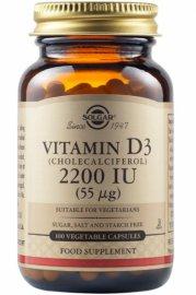 SOLGAR Vitamin D3 (Cholecalciferol) 2200 IU - 100veg.caps