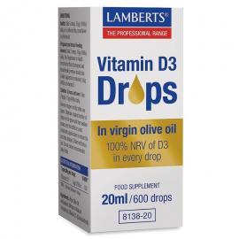 Lamberts Vitamin D3 Drops 20ml / 600 drops