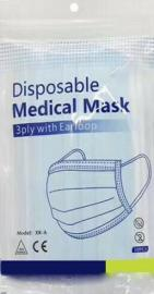 Disposable Medical Mask 3ply with Earloop Μάσκες 10τμχ
