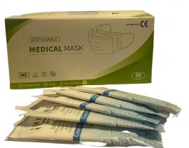 SET Covid Μάσκες Προσώπου 3ply Medical Mask 50 Τεμάχια Ανά Κουτί + Ag Pharm Αντισηπτικό Μαντηλάκι Για Τα Χέρια 5 Τεμάχια
