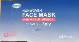 Μάσκες Χειργουργικές Πιστοποίηση CE/ EN14683 TYPE IIR 3ply, 50 Τεμάχια