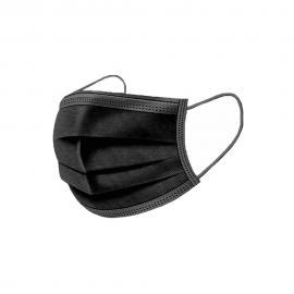 Μάσκα Προστασίας Από Ιούς Και Λοιμώξεις Μίας Χρήσης Μαύρη, 1τμχ.