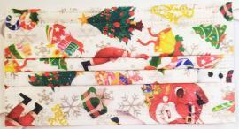 Μάσκες Μιας Χρήσης Με Λάστιχο Χριστουγεννίατικη (3ply), 10 Τεμάχια