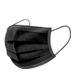 Mάσκες προσώπου 3ply Disposable medical mask χειρουργικές μάσκες 50 τεμάχια [Μαύρο]