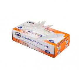 Αλουμίνιον Θαλασσινός Γάντια Βινυλίου Χωρίς Πούδρα Μέγεθος:Large 100 Τεμάχια