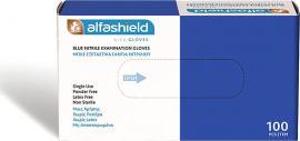 Alfashield Γάντια Examination Νιτριλίου Powder Free Μπλε L 100τμχ