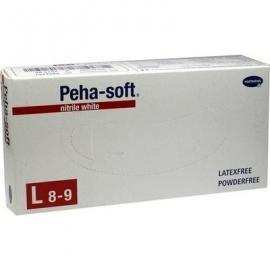 Hartmann Peha Soft Nitrile White Εξεταστικά Γάντια Χωρίς Πούδρα [Size:L] 100 Τεμάχια
