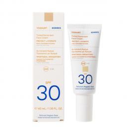 Korres Yoghurt Tinted Sunscreen Face Cream SPF30 For Sensitive Skin Αντηλιακή Κρέμα Προσώπου Με Χρώμα 40ml