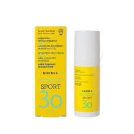 Κorres Sport Αντηλιακή Κρέμα Προσώπου Κίτρο SPF30 50ml