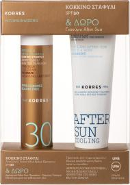 Korres Sunscreen Promo Αντηλιακή Κρέμα Προσώπου SPF30 Κόκκινο Σταφύλι κατά των Πανάδων 50ml & Δώρο Yoghurt Cooling AfterSun 50ml
