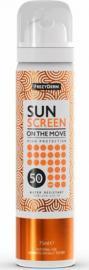 Frezyderm Sun Screen on the Move SPF50 Αντηλιακό Mist Προσώπου Ταχείας Εφαρμογής 75ml