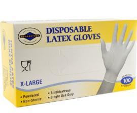 Αλουμίνιον Θαλασσινός Γάντια Latex Ελαφρώς Πουδραρισμένα Μέγεθος:XLarge 100 Τεμάχια
