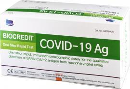 Rapigen Biocredit Covid-19 Τέστ Αντιγόνου Rapid Test, 1 Τεμάχιο
