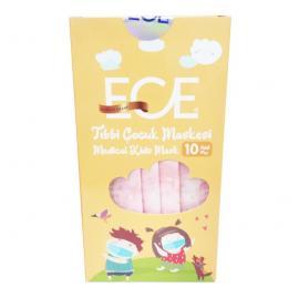 Ece Medical Kids Mask με Σχέδια Ροζ 10τμχ