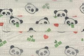Konvoy Face Masks Αρκουδάκι Panda 10 Παιδικές Χάρτινες Μάσκες 3 Στρώσεων 99.8% Προστασία [10 Τεμάχια Ανά Σακουλάκι]