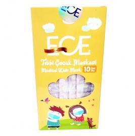 Ece Medical Kids Mask με Σχέδια Μωβ 10τμχ