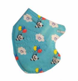 KN95 Παιδική Μάσκα Προσώπου Μπλε Panda Υψηλής Προστασίας FFP2 1τμχ
