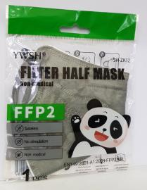 Μάσκα Παιδική FFP2 Χωρίς Βαλβίδα Γκρι 1τμχ