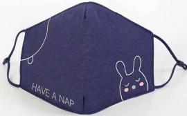 Παιδική Βαμβακερή Μάσκα Με Ρυθμιζόμενο Λαστιχάκι Bunny, 1 Τεμάχιο
