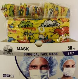 Surgical Face Masks 50 Παιδικές Χάρτινες Χειρουργικές Μάσκες Bang [10 Τεμάχια Ανά Σακουλάκι x 5 Σακουλάκια Ανά Κουτί]