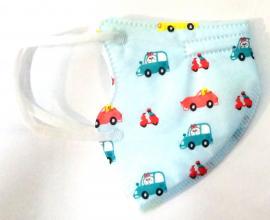 KN95 Παιδική Μάσκα Γαλάζια με Αυτοκίνητα 1τμχ