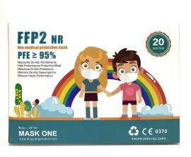 Παιδική Μάσκα Προστασίας Προσώπου FFP2 με CE πιστοποίηση 5 στρωμάτων
