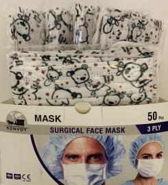 Surgical Face Masks 50 Παιδικές Χάρτινες Χειρουργικές Μάσκες 3 Στρώσεων My Cute Bear [10 Τεμάχια Ανά Σακουλάκι x 5 Σακουλάκια Ανά Κουτί]