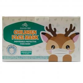 ΜΑΣΚΑ Προστασίας Παιδική Μιας Χρήσης, (14,5x9cm) Τριών Στρωμάτων 3ply Με Σχέδια, Κουτί- 50τμχ