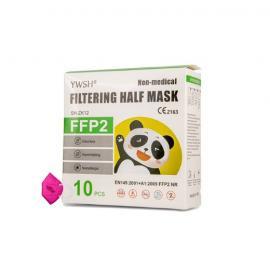 Μάσκα Παιδική FFP2 NR Φούξια Χωρίς Βαλβίδα Μιας Χρήσης 10 τμχ