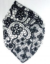 KN95 Μάσκα Ενηλίκων Ασπρη Με λουλούδια 1τμχ