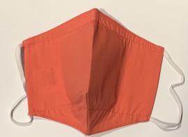 Anosia Υφασμάτινη Μάσκα Ενηλίκων Με Αποσπώμενο Φίλτρο 100% Βαμβακερή Χρώμα:Κοραλί 1 Τεμάχιο